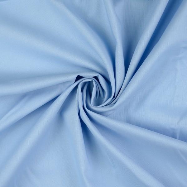 Baumwoll-Cretonne uni, hellblau