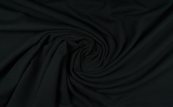 Baumwolljersey uni, schwarz