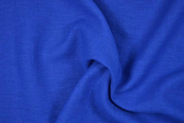 Leinenstoff Ramie gewaschen , royalblau