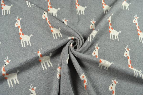Jacquard Jersey knitknit, Giraffe