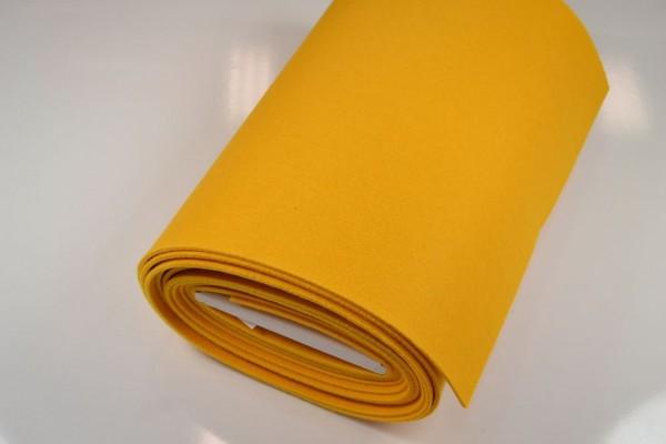 Bastelfilz Meterware, 4 mm dick harte Qualität, gelb