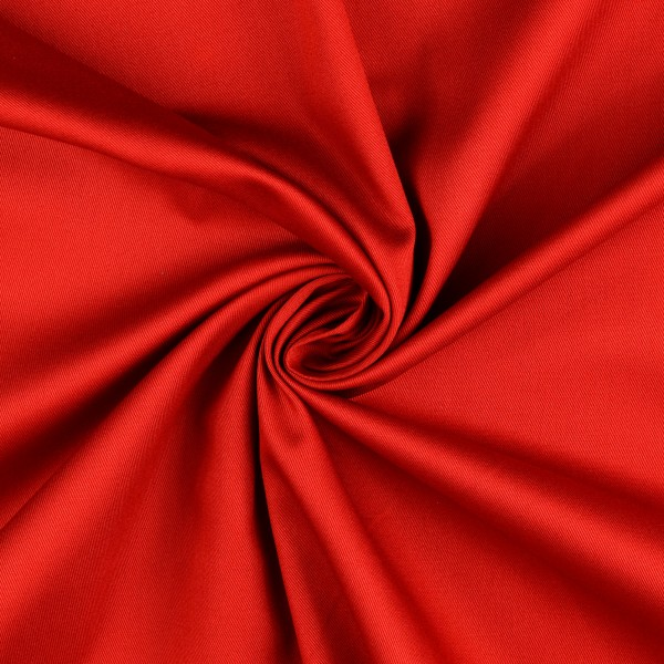 Baumwollstoff Köper, rot