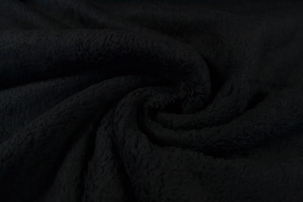 Teddy Baumwoll-Krimmer uni, schwarz