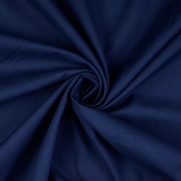 Baumwoll-Cretonne uni, marine/dunkelblau