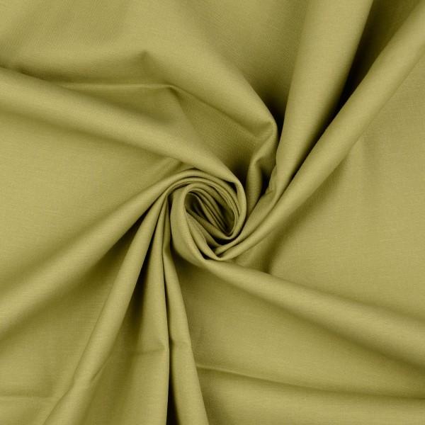 Baumwollsatin elastisch uni, olivegrün