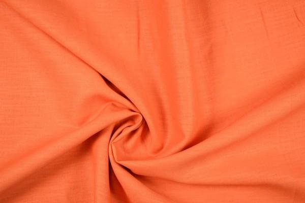 Leinenstoff Ramie gewaschen , orange