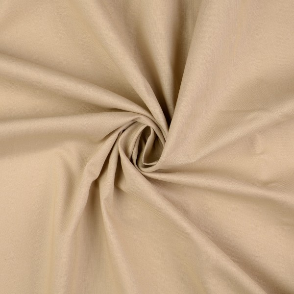 Baumwoll-Cretonne uni, beige