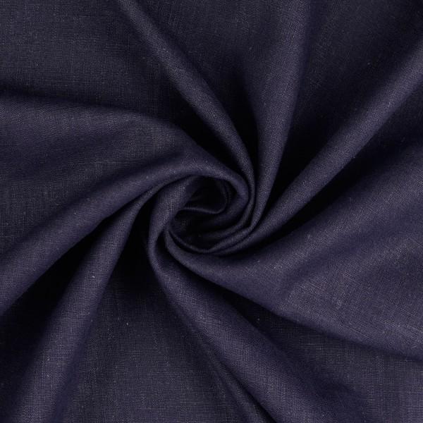 Leinenstoff Ramie gewaschen , dunkelblau/marine