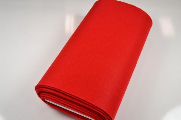 Bastelfilz Meterware 4 mm dick harte Qualität, rot