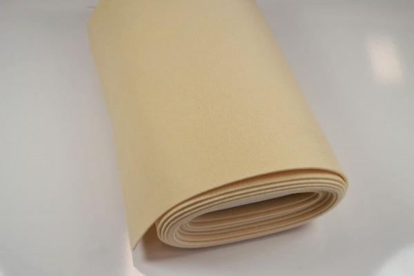 Bastelfilz Meterware 4 mm dick harte Qualität, beige