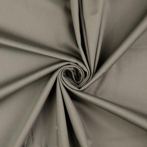 Baumwollsatin elastisch uni, grau