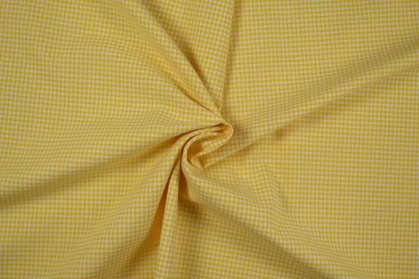 Baumwollstoff Zefir Vichy Karo, 0,25 cm, gelb