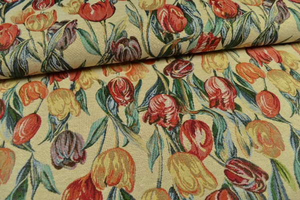 Gobelin Möbelstoff, Tulpen