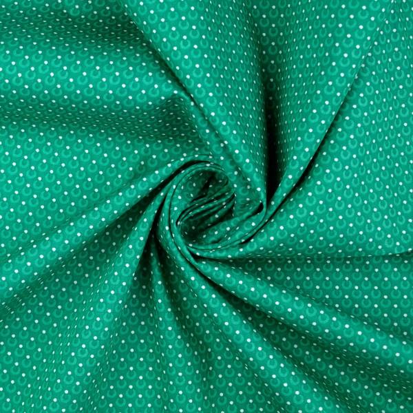Baumwollstoff Popeline Kreise/Punkte, grün