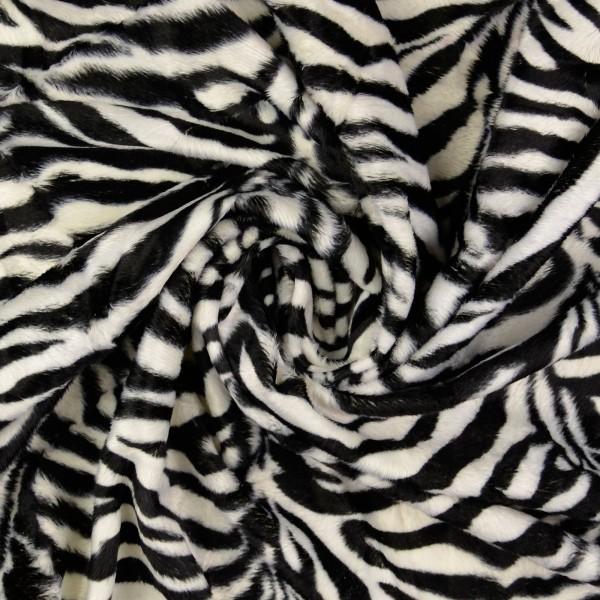 Fellimitat Zebra, schwarz/weiß