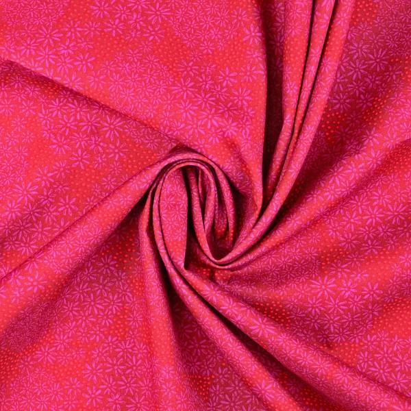 Baumwollstoff Popeline Flower, pink