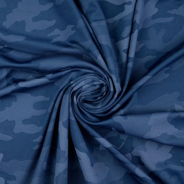 Funktionsjersey Camouflage, blau