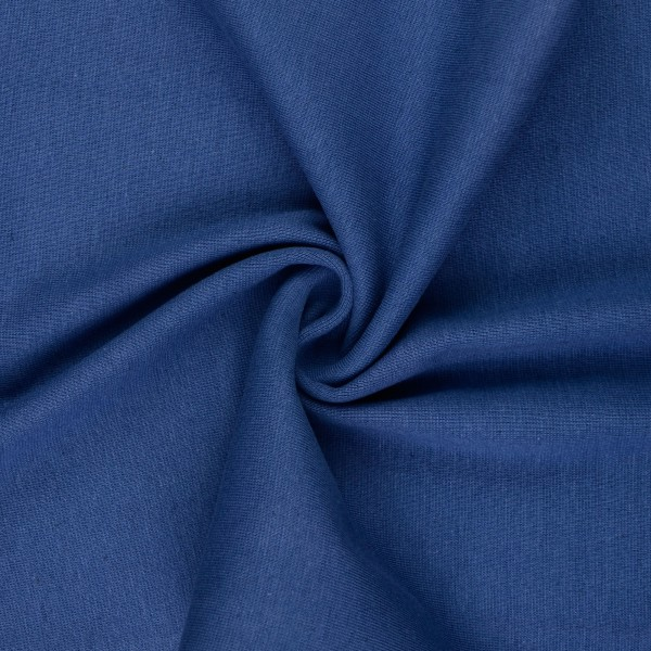 Bündchenstoff glatt, jeansblau