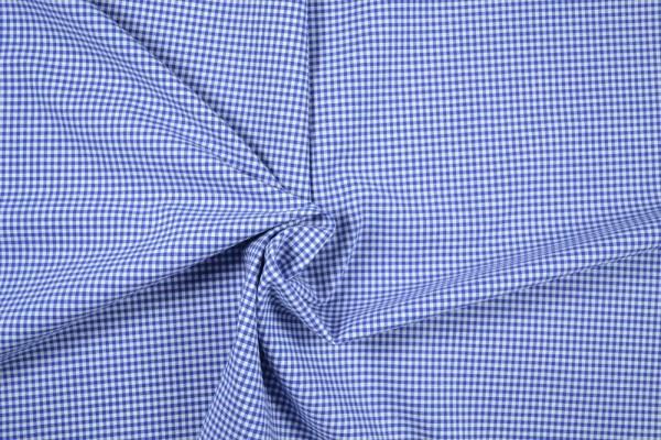 Baumwollstoff Zefir Vichy Karo, 0,25 cm, blau