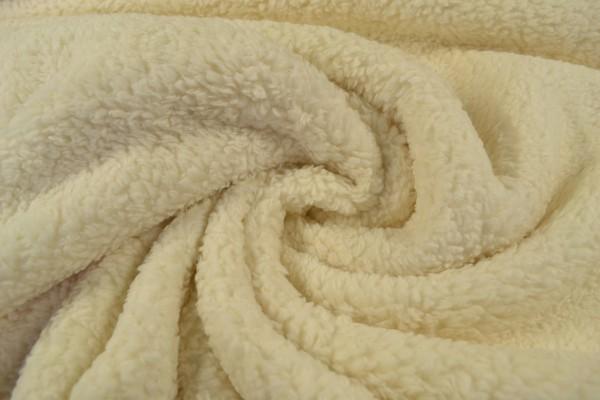 Teddy Baumwoll-Krimmer uni, natur/beige