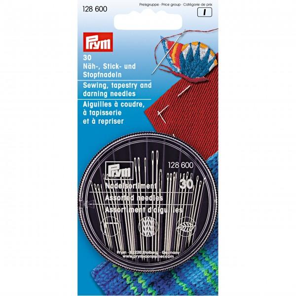 Prym Näh-, Stick- und Stopfnadeln in Compact-Dose, 30 Nadeln
