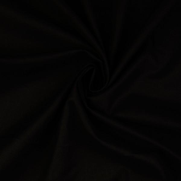 Baumwoll-Cretonne uni, schwarz