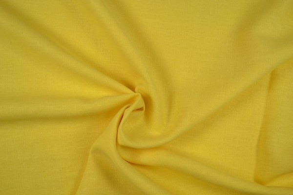 Leinenstoff Ramie gewaschen , gelb