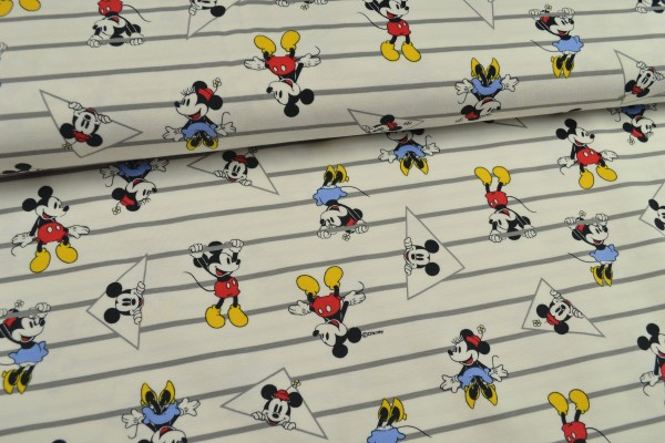 Baumwolljersey Digitaldruck, Micky Maus