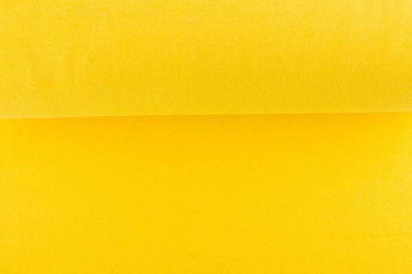 Bündchenstoff glatt, gelb