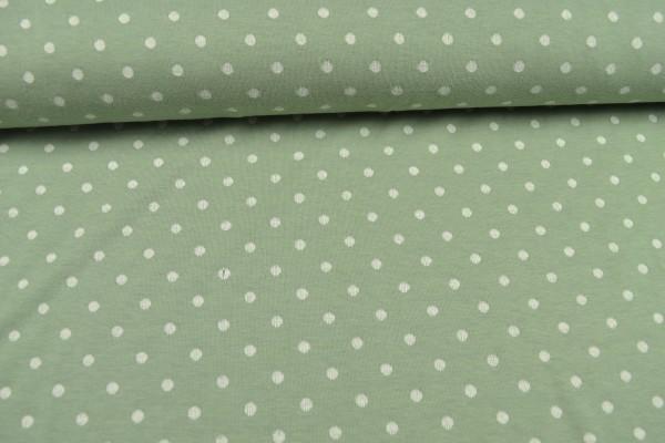 Jacquard-Jersey Doubleface, Tupfen/Streifen mint