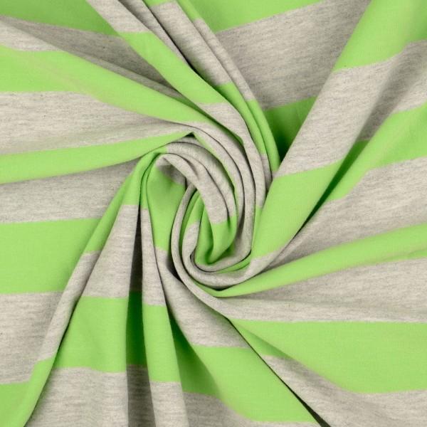 Baumwolljersey Streifen melange, kiwi/grün