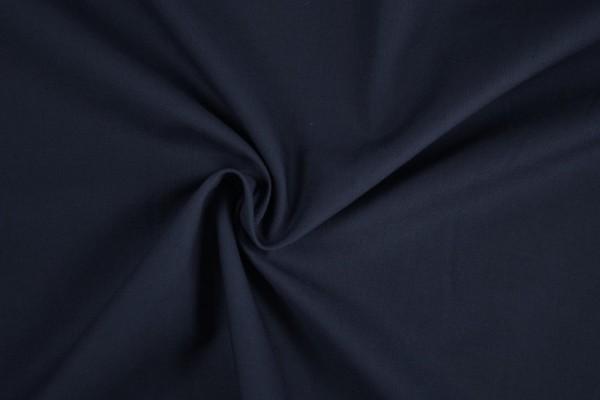 Stretch Baumwolle uni, dunkelblau/marine