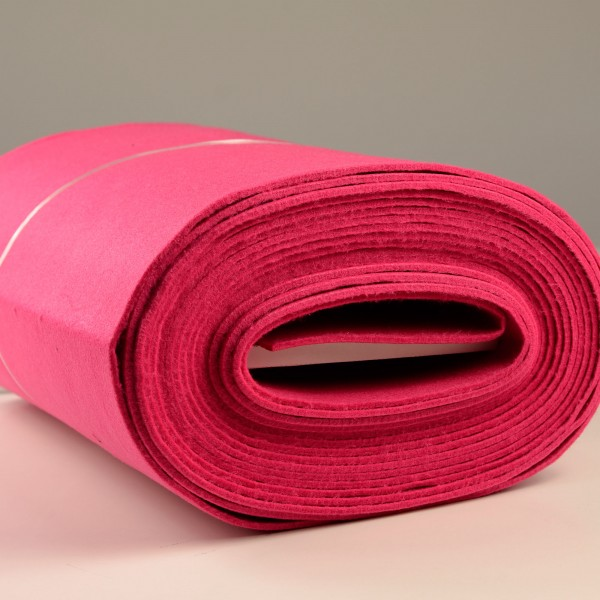 Bastelfilz Meterware 4 mm dick harte Qualität, pink
