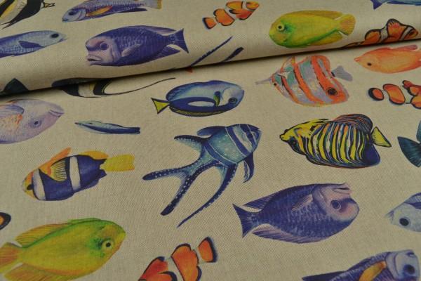 Canvas Deko Stoff, Fische