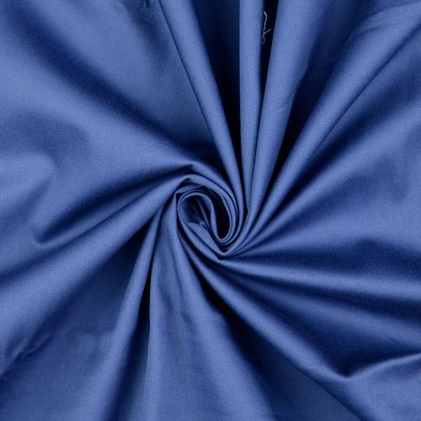 Baumwollsatin elastisch uni, jeansblau