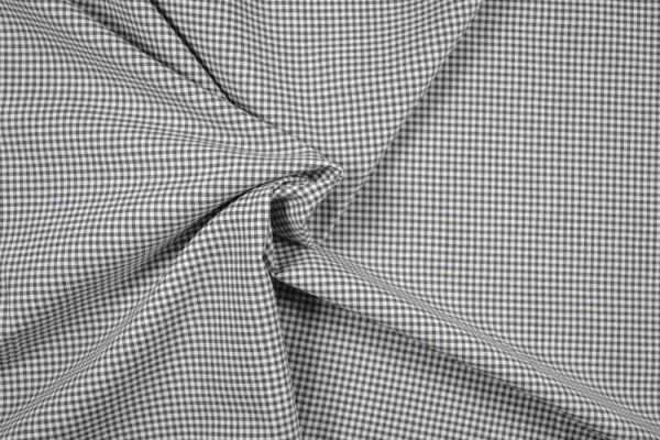 Baumwollstoff Zefir Vichy Karo, 0,25 cm, grau