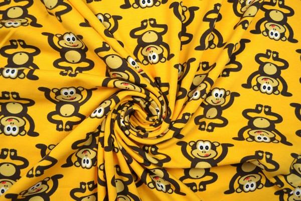 Baumwolljersey gemustert, Affen