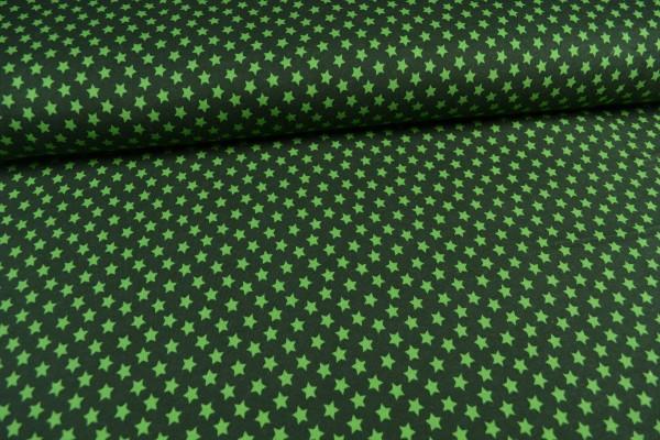 Sweatshirt Sterne angeraut, grün