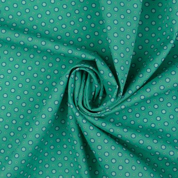 Baumwollstoff Popeline Sonne, grün