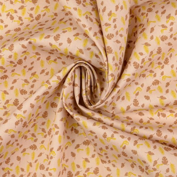 Baumwollstoff Popeline Frühling, beige