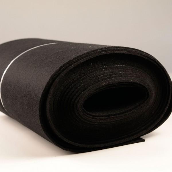 Bastelfilz Meterware 4 mm dick harte Qualität, schwarz