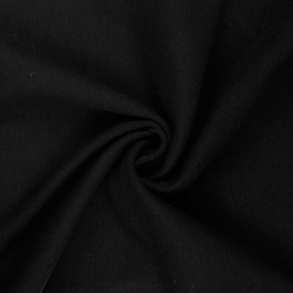 Bündchenstoff glatt, schwarz