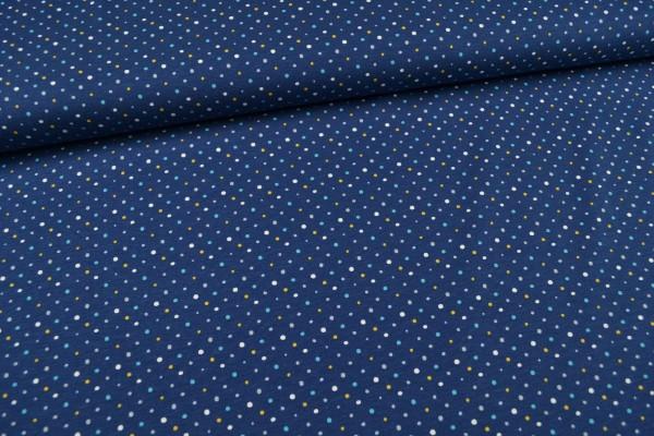 Baumwolljersey Tupfen, blau