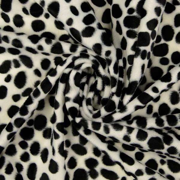 Fellimitat Dalmatiner, schwarz/weiß
